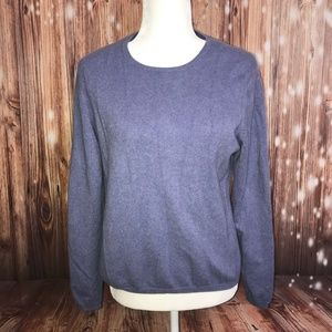 Blue Gray Cashmere Pullover Sweater